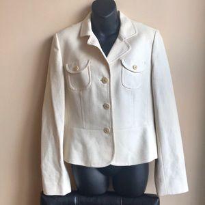 Ann Taylor Loft Cream  Blazer Jacket Sz 8